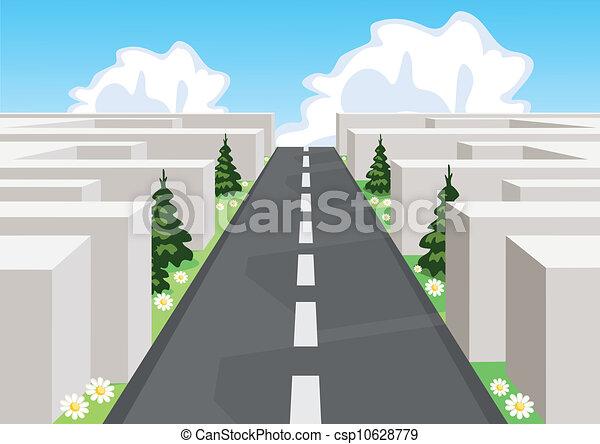 切断, ビジネス, 上に, によって, 道, 混乱, life., 迷路, 成功 - csp10628779