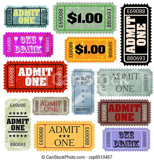 切符, スタイル, 別, set., eps, テンプレート, 8 - csp6510457