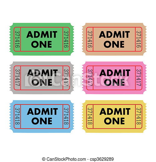 切符, 1に入ることを許しなさい - csp3629289
