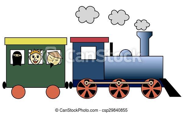 列車, 蒸気 - csp29840855
