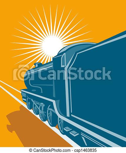 列車, 見られた, 後部 - csp1463835