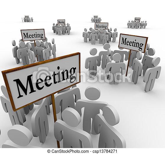 別, のまわり, 人々, 多数, 収集, グループ, サイン, ミーティング - csp13784271