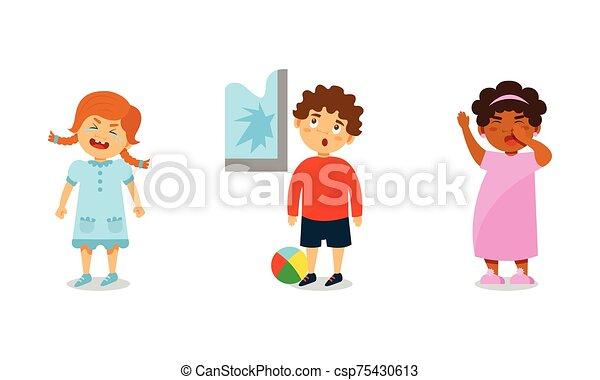 別, わずかしか, 表現, ベクトル, 感情, 子供, イラスト - csp75430613