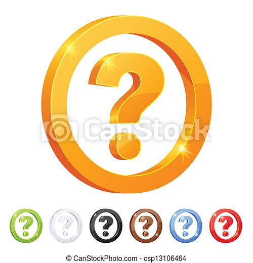 別, セット, シンボル, 質問, colors., 7 - csp13106464