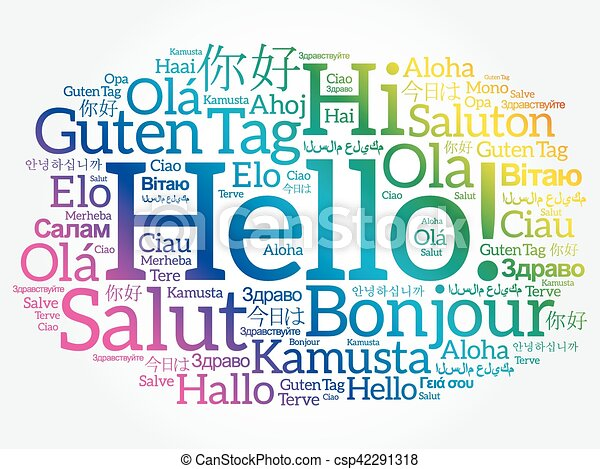 別, 単語, 言語, 世界, こんにちは, 雲 - csp42291318