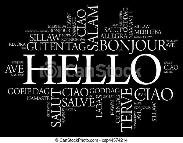 別, 単語, 言語, 世界, こんにちは, 雲 - csp44574214