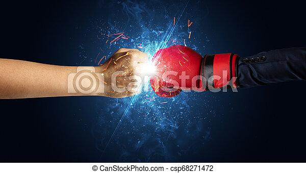 別, 概念, 要素, 戦い, 手 - csp68271472