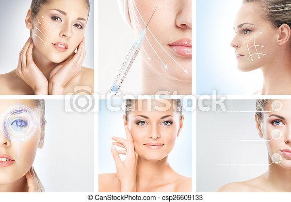 別, 目, (plastic, 肖像画, 構造, concept), コレクション, 健康, 手術, 効果, 女性, ライフスタイル, 美容術 - csp26609133