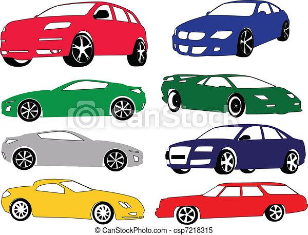 別, 自動車, 色, コレクション - csp7218315