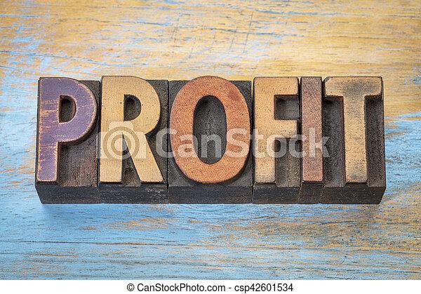 利益, 単語, タイプ, 凸版印刷 - csp42601534