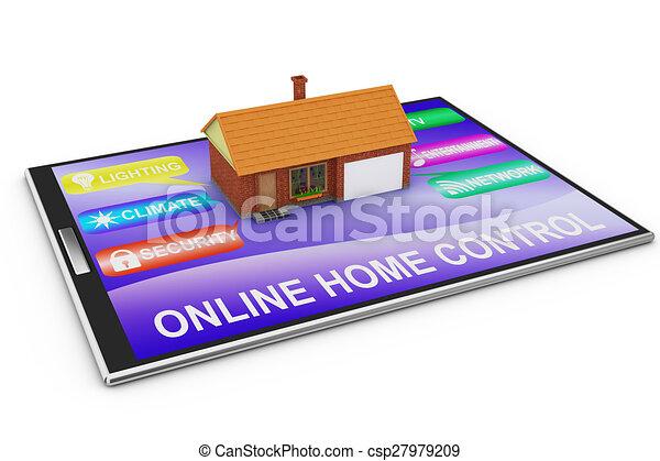 制御, 家, オンラインで. 管理, ...