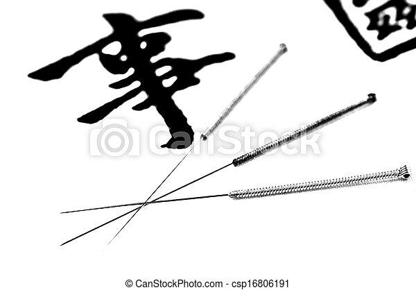 刺鍼術の 針 - csp16806191