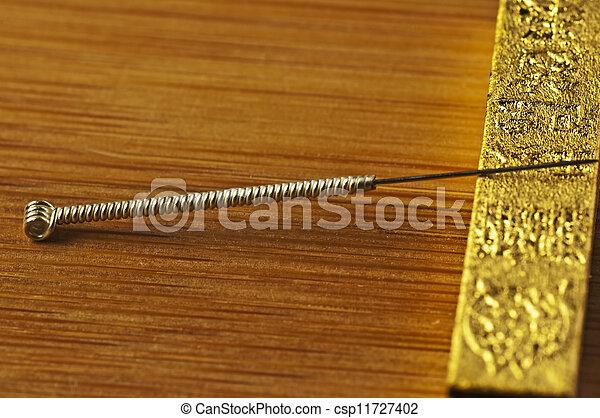 刺鍼術の 針 - csp11727402