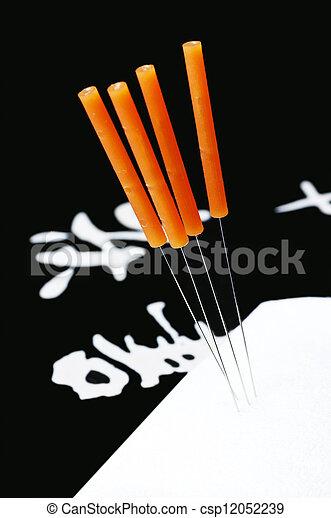 刺鍼術の 針 - csp12052239