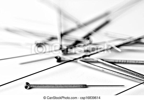 刺鍼術の 針 - csp16839614