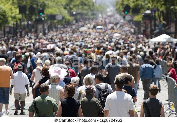 前面, 集中, 人群 - csp0724963