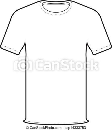 前面, t恤衫, 矢量 - csp14333753