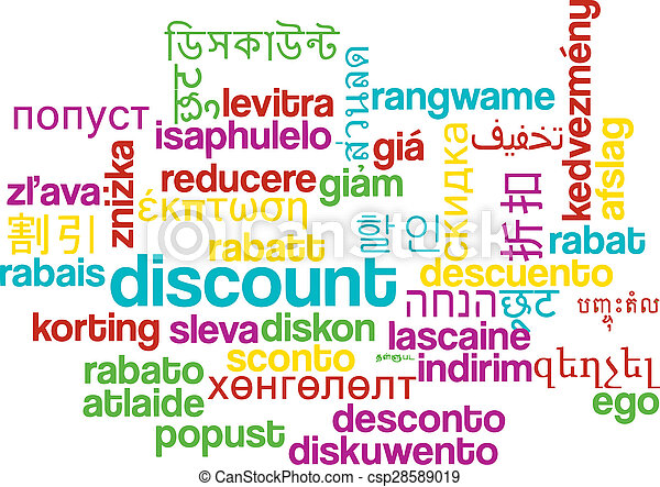 割引, wordcloud, 概念, multilanguage, 背景 - csp28589019