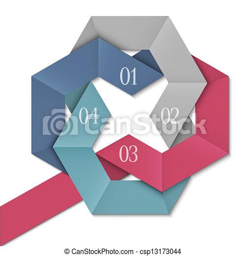 創造的, デザイン, テンプレート, infographics - csp13173044