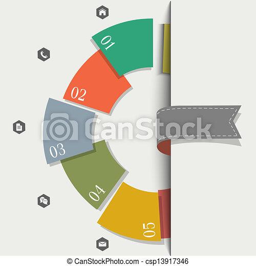 創造的, デザイン, テンプレート, infographics - csp13917346