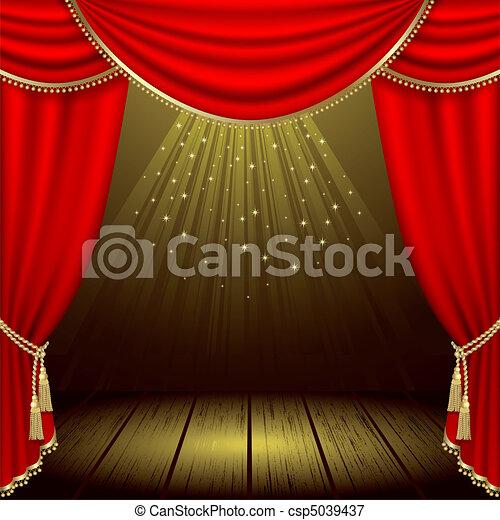 劇場, ステージ - csp5039437