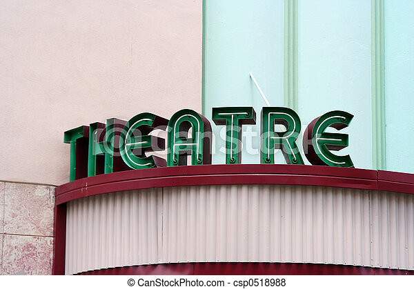 劇場, 印 - csp0518988