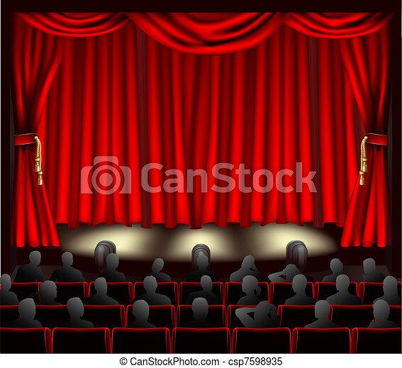 劇場, 聴衆 - csp7598935