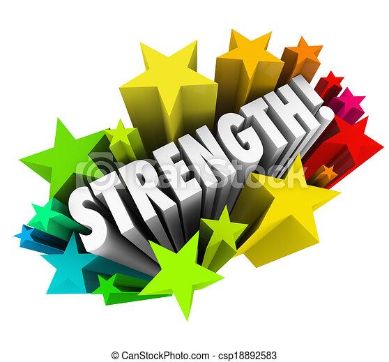 力量, 詞, 能力, 优勢, 具有競爭性, 星, 強有力 - csp18892583