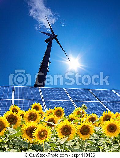 力, エネルギー, -, によって, 選択肢, 風 - csp4418456