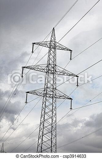 力, 電気, エネルギー, ポーランド人, 選択肢, タービン, 風 - csp3914633