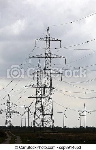 力, 電気, エネルギー, ポーランド人, 選択肢, タービン, 風 - csp3914653