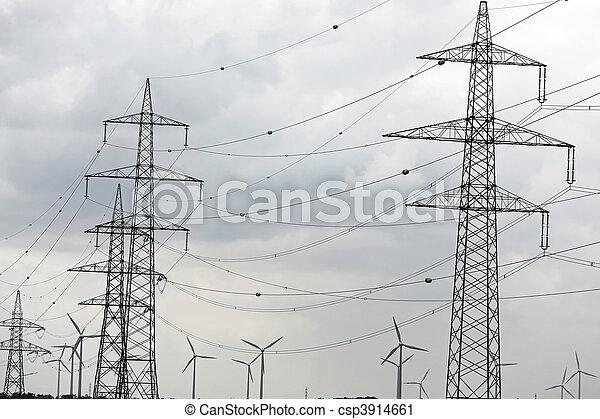 力, 電気, エネルギー, ポーランド人, 選択肢, タービン, 風 - csp3914661