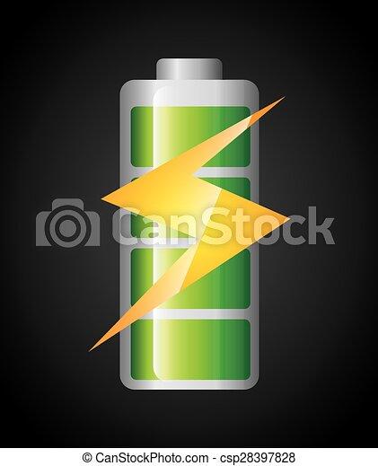 力, 電池 - csp28397828