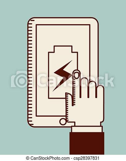 力, 電池 - csp28397831