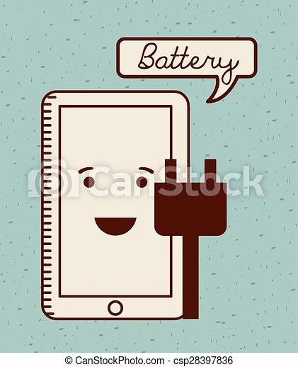力, 電池 - csp28397836