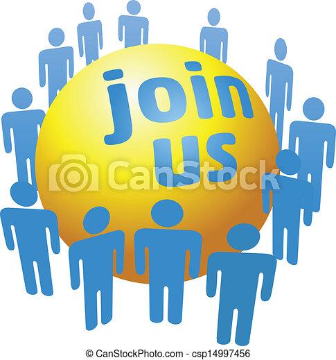加入, 公司, 人们, 团体, 社会 - csp14997456