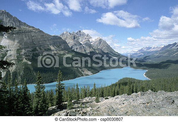 加拿大, np, 湖, 碧玉, peyto, 艾伯塔 - csp0030807