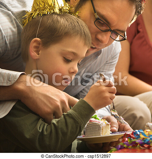 助力, 父, son. - csp1512897