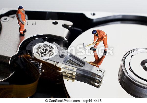 努力, 小雕像, 工人, 驅動 - csp4414418