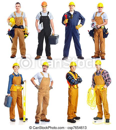 労働者, グループ, 人々。, construction. - csp7654613