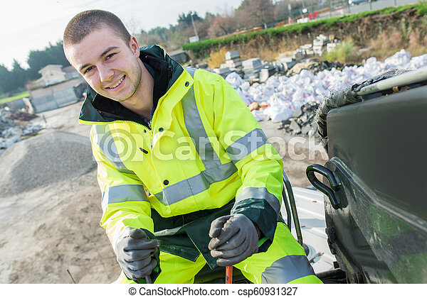 労働者, 市の, dustman - csp60931327