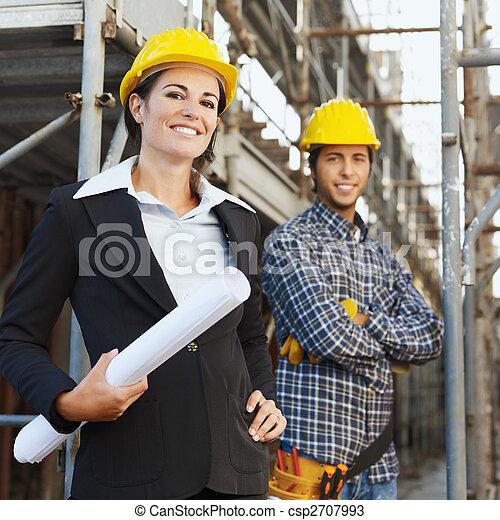 労働者, 建設, 建築家 - csp2707993