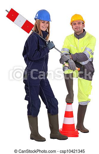 労働者, 道 - csp10421345