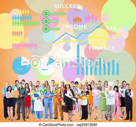 労働者, group., 人々 - csp25812690