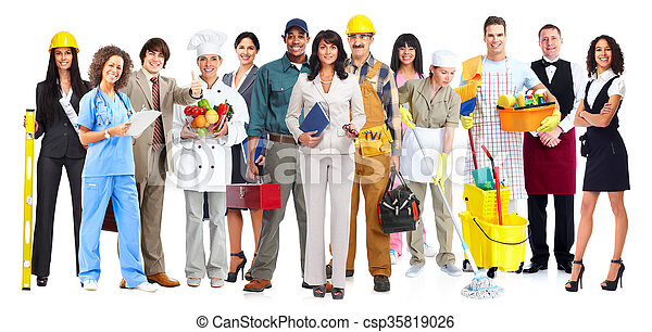 労働者, group., 人々 - csp35819026