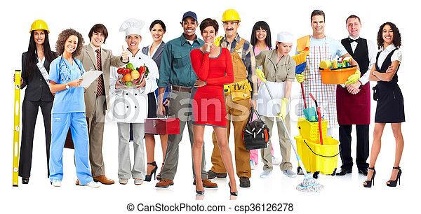 労働者, group., 人々 - csp36126278