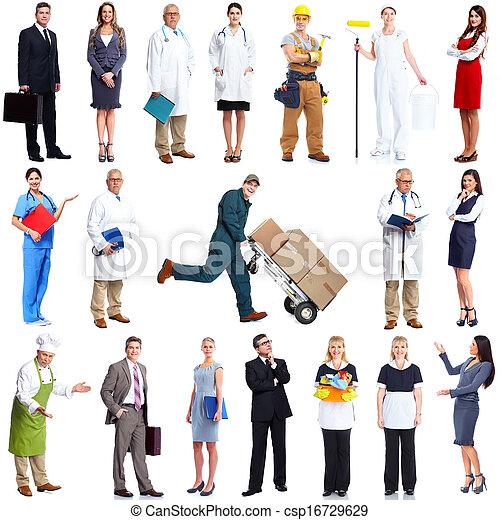 労働者, set., 人々 - csp16729629