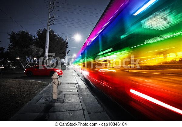 動き, スピード違反, バス, ぼんやりさせられた - csp10346104