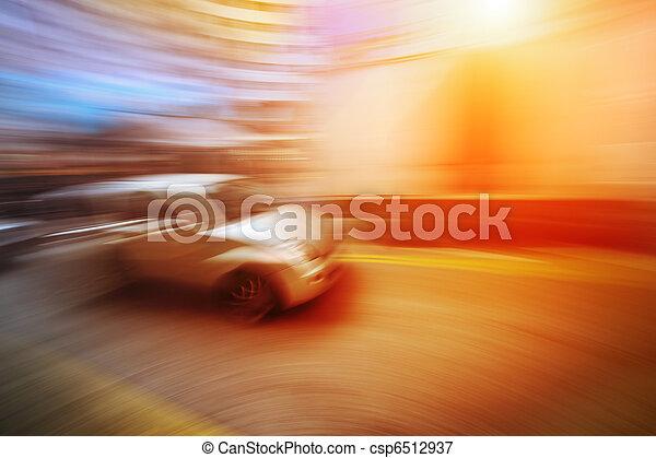 動き, 自動車, ぼんやりさせられた - csp6512937