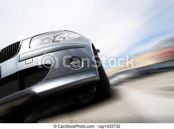 動き, 自動車, 引っ越し, 速い, ぼやけ - csp1433732